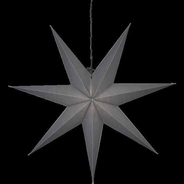 Papierstern OZEN, grau, ca. Ø 140 cm