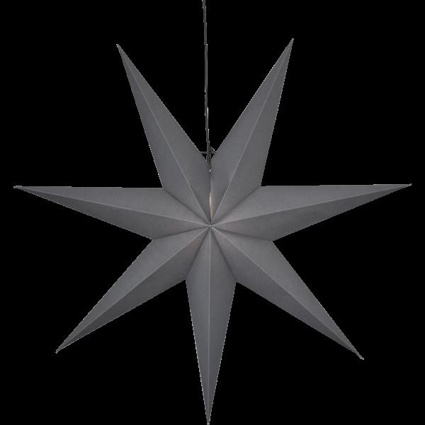 Papierstern OZEN, grau, ca. Ø 100 cm