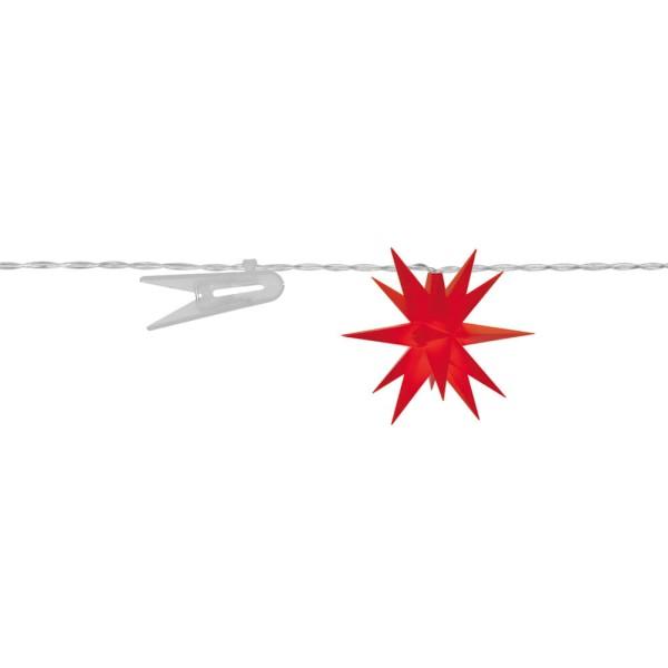 LED Dekolichterkette Sterne, rot, Ø 8 cm