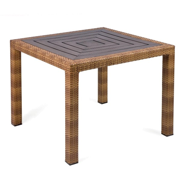 MBM Tisch Bellini Tobacco, Tischplatte Resysta Siam 90 x 90 cm